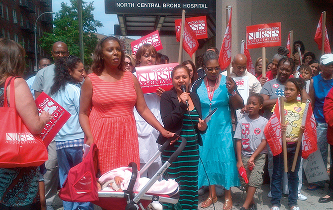 Letitia James Stands with Nurses to Keep North Central Bronx Hospital Open for Care