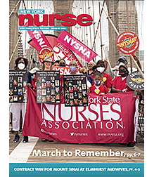 Cover of August, 2021 NY Nurse