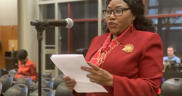 Flandersia Jones testifies at MRT public hearing