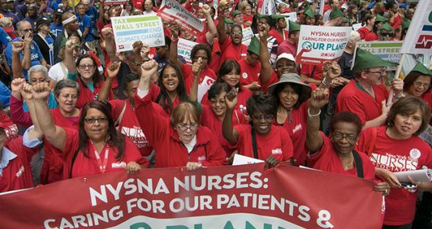 Nurse at the Peoples Climate March