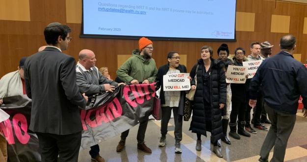 Protesters disrupt Medicaid Redesign Team Hearing