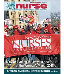 Cover of NY Nurse January 2018