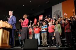 Nurses Celebrate Mayor de Blasio's victory