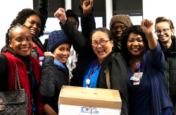 NYCH+H NYSNA RNs celebrate a new contract!